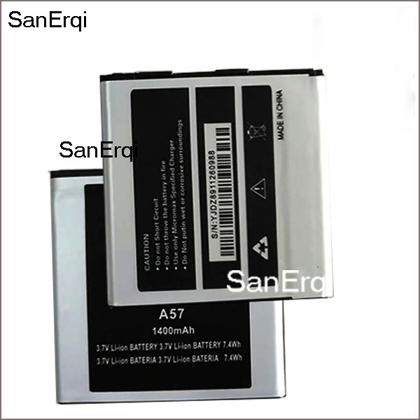 10pcs Battery For <font><b>Micromax</b></font> A57 Mobile Phone Lithium Battery <font><b>1400mAh</b></font> Batterie Accumulator Replacement Battery image
