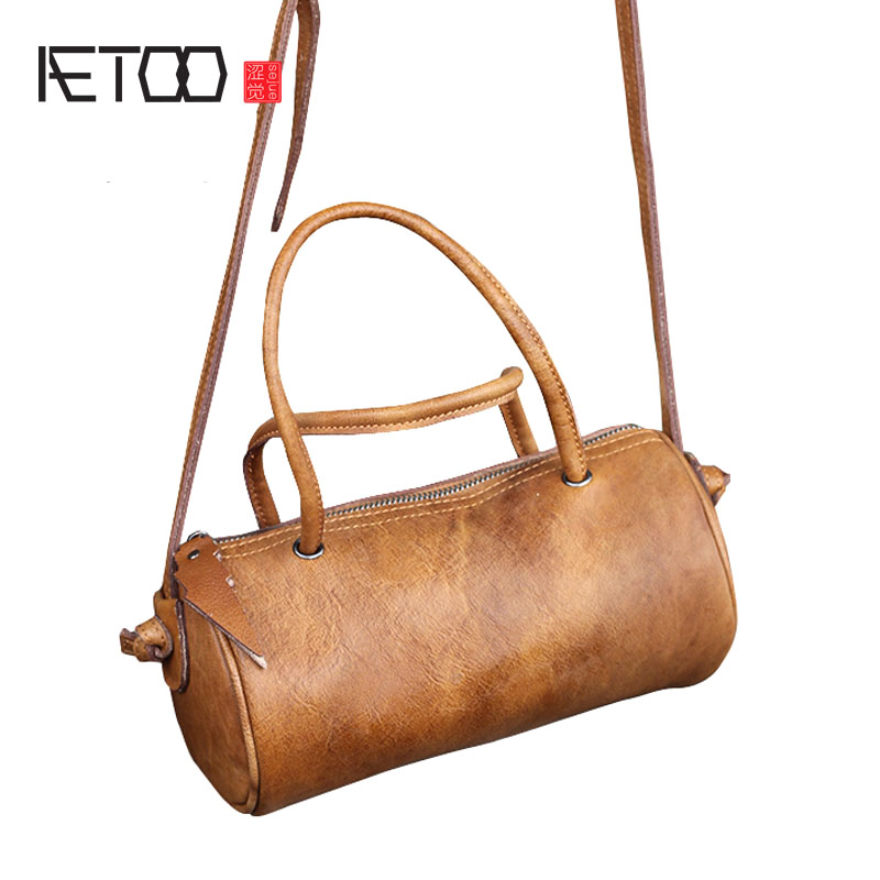 AETOO The first layer of leather leather forest casual leisure Messenger bag female retro 2018 new pure leather handbags summer mycofloral study of pinus forest of samahni azad kashmir pakistan