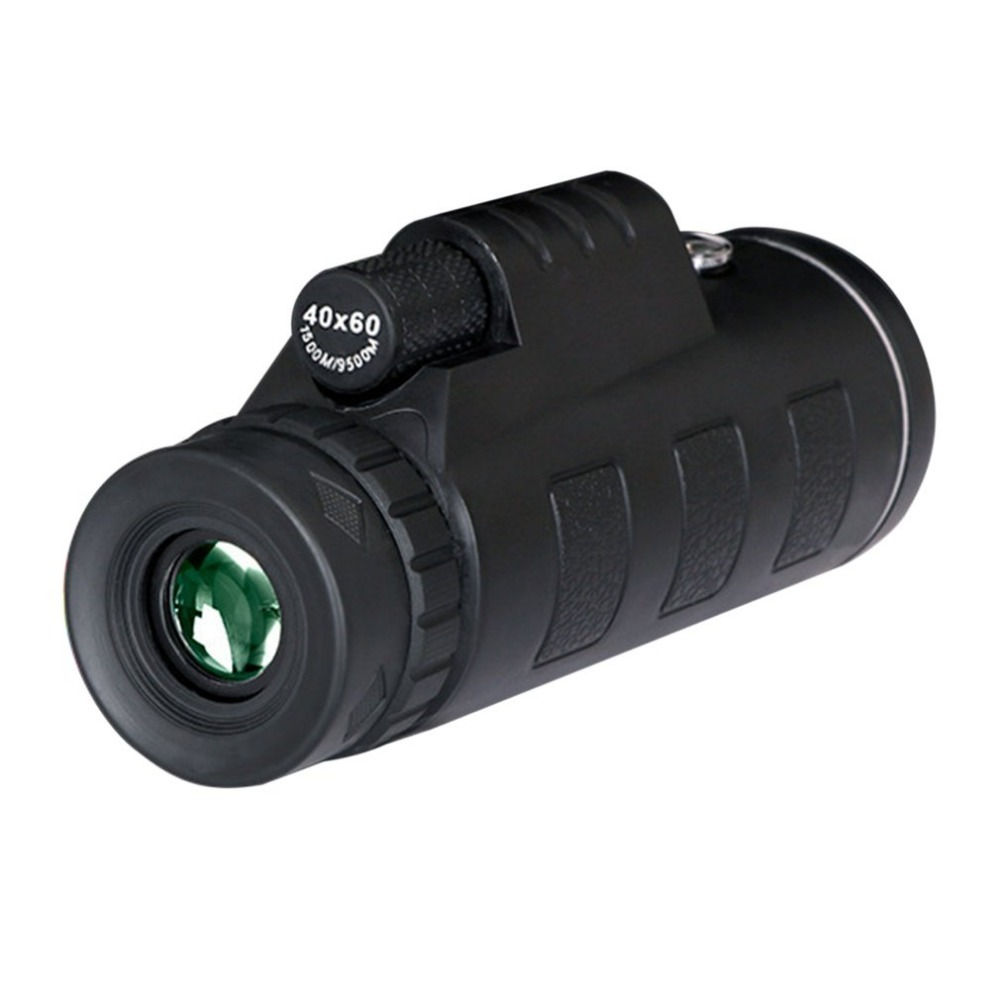 OUTAD 40X60 Zoom Monocular Telescope High Magnification Low Light Night Vision Multi Coating Lenses with Compass