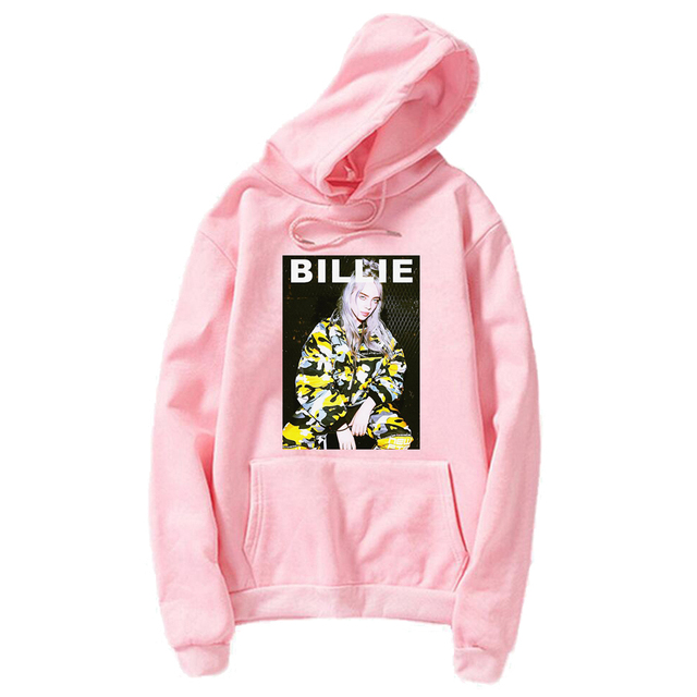952cf6a77b10 billie eilish Hoodies Women fashion 2019 Spring Autumn Vogue Hoodie kawaii  clothes bts Sweatshirt Pink Pullover Long Sleeve tops