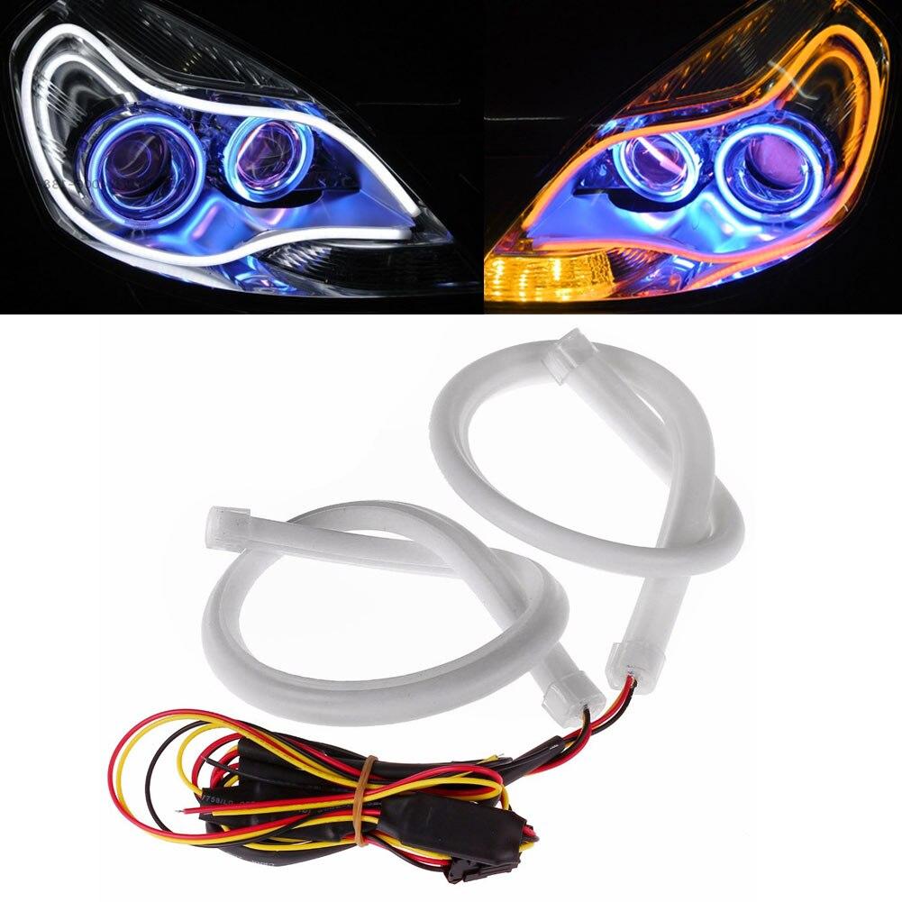 Lights & Lighting 60cm Latest Fashion Ingenious Enjoydeal Led Strip Light Headlight Flexible Car Soft Signal Tube Drl Daytime Running Headlight Lamp Light Tube Set 45cm