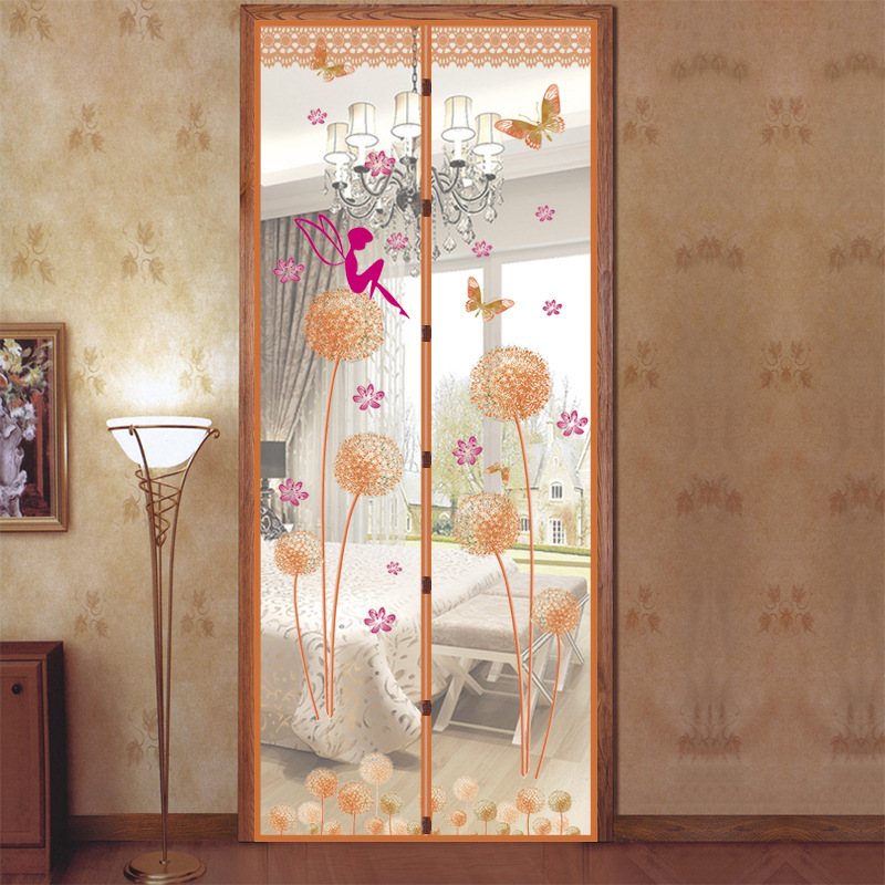 90X210 cm Magnet Mosquito Net Summer Anti-mosquito Mesh magnetic Curtains Soft Yarn Door Tulle Window Screen 4 Colors