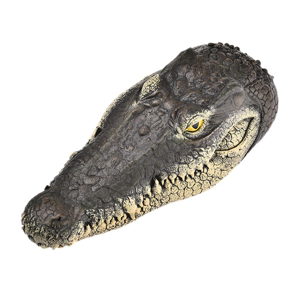 Floating Crocodile Head Garden Pond Pool Realistic Water Features Decorations Pool Ornament Floating Resin Crocodile Head