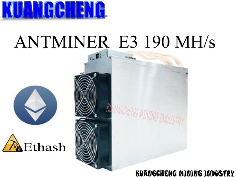 KUANGCHENG usato old 80-90% nuovo Asic ETH ECC Minatore Bitmain Antminer E3 190MH/S Ethash Ethereum ETH macchina mineraria