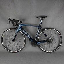 Полный дорожный углеродное волокно для велосипеда, углерода, руль для шоссейного велосипеда, рамка с указано 22 скорость Дорожный велосипед