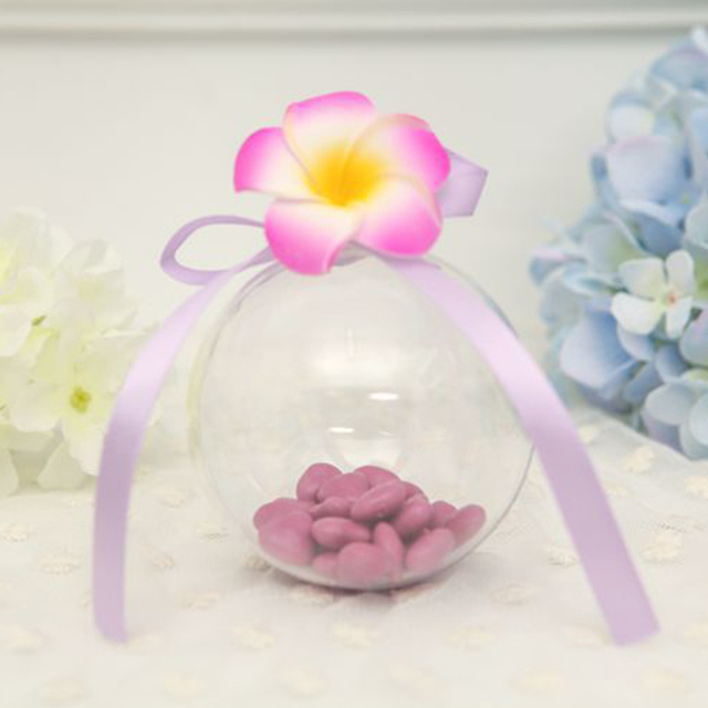 1 Pc Acrylic Ball Clear Plastic Ball for Flower Preservation Container Candy Box Transparent Hollow Sphere Hanging DecorP1