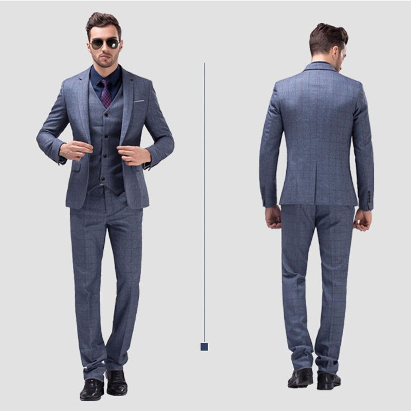 New/customize (Jacket Pants Vest)Men Slim Fit Suits Mens Suit with ...