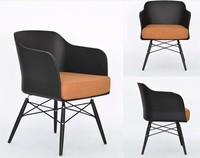 Fashion sofa 100% Wooden furniture Plastic Sofa chair white blue dining chair living room Sofa armchair leisure sofa