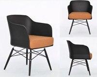 Moda sofa 100% Drewniane meble Plastikowe krzesło Sofa biały niebieski jadalnia krzesło pokój dzienny Sofa fotel rozrywka sofa