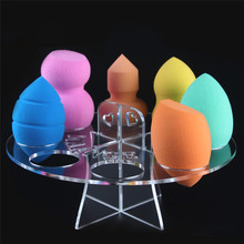 High quality 8 Hole Oval Puff Holder Drying Rack Organizer Cosmetic Shelf Tool