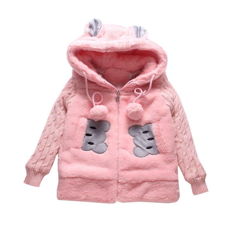 Winter Girls Jackets Faux Fur Fleece Coats Warm Jacket Girl Lovely Outerwear 4-14Y Teenager Children Thicken Coat Kids Clothes girl