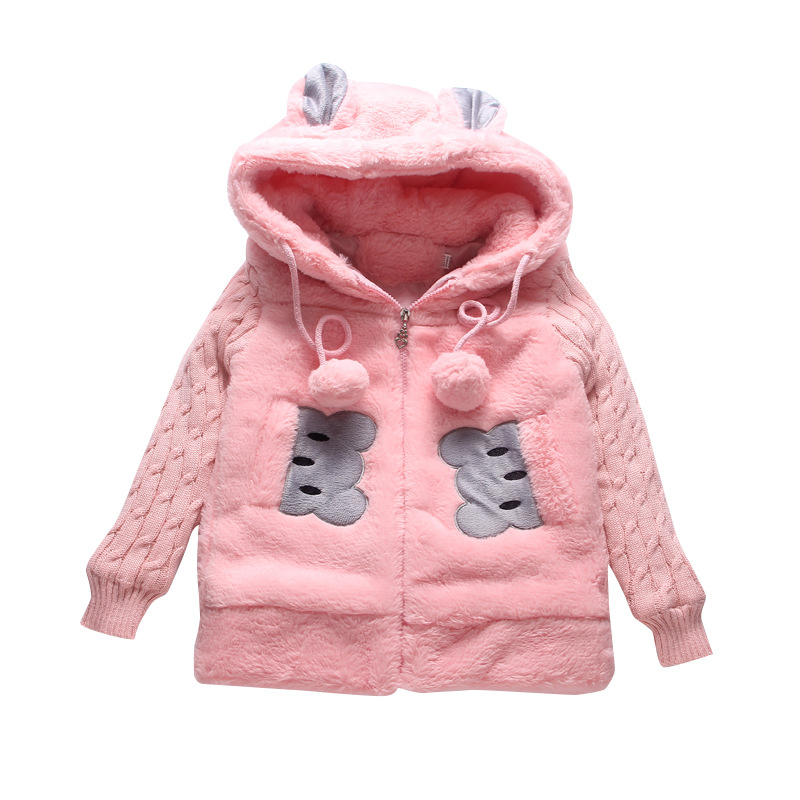 Baby Kids Girls Fleece Jacket Fur Tops Warm Coat Princess Winter Outwear