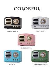 Bluetooth speaker retro mini wireless Insert card soundbar cute u disk phone subwoofer