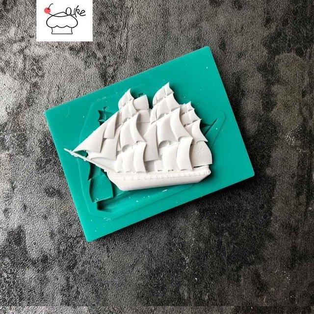 Aouke Barca A Vela Del Silicone Stampi Decorazione di una Torta Stampo In Silico