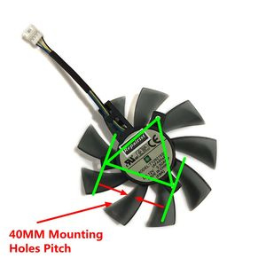 Image 5 - 82 85MM T129215SU GPU Cooler Alternative Fan For GIGABYTE RX580 480 570 470 GTX1070 1060 1050 Graphics Video Card Cooling Fee