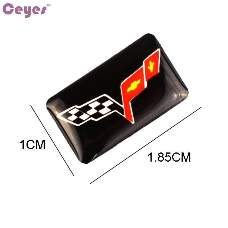 Car-Styling Steering Wheel Epoxy Badge Sticker Decals Case For Corvette Guitar C3 C4 C5 C6 C7 Emblems Car Styling 10pcs/lot