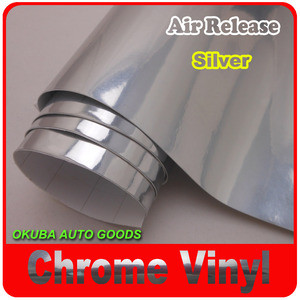 HIGH QUALITY Silver Chrome Car Vinyl Wrapping Film/Chrome Film Air Channels|car vinyl|car vinyl 3mvinyl film car -
