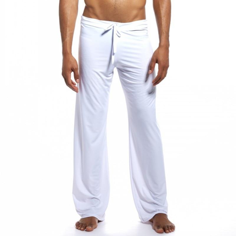 Men's Home Wear Soft Comfortable Men Sleep Bottoms Homewear Homme Yoga Pants Man String Loose Pajamas Sleep Wear Pants Yoga