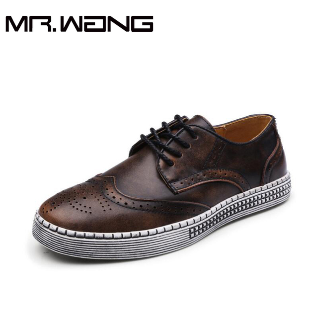Marca de alta calidad Retro Tallado zapatos de Lona de Los Hombres de Cuero Genuino zapatos del deporte de Los Hombres Bajos Zapatillas de Deporte casuales zapatos de Los Planos de gran tamaño BB-32