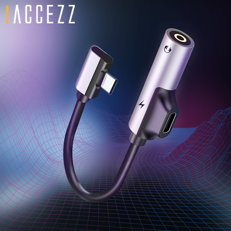 !ACCEZZ Type C Audio Adapter Fast Charging 3.5mm Earphone Connector For Xiaomi Mi 6 5 Huawei Mate 10 Pro 3.5 Jack Aux Splitter