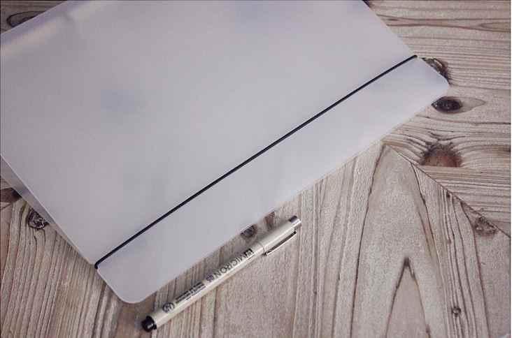 A4 Tampa Matte Translucent Loose-leaf Notebook Escritório de Negócios Padrão PP furos Fichário