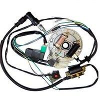 TDPRO 50CC 110CC 125CC Motorcycle CDI Coil Stator Magneto Plug Wire Harness Loom Fits 50CC 110CC 125CC Pit Dirt Bikes