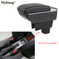 Armrest box For SUZUKI Swift 2005 18 Central Console Arm Store With Rise and Down Function box cup holder ashtray Car Candy box