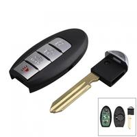 315Hz 4 Buttons PP Replacement Remote Car Key Fob Transmitter Clicker Alarm With Key For Nissan