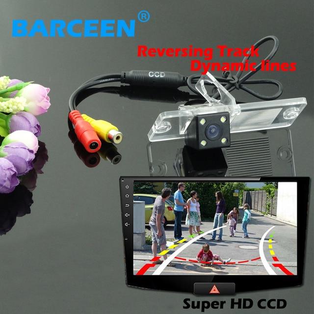 Auto car rear system 170 lens angle car parking camera hd ccd image bring  Dynamic track line adapt for  Mitsubishi Pajero