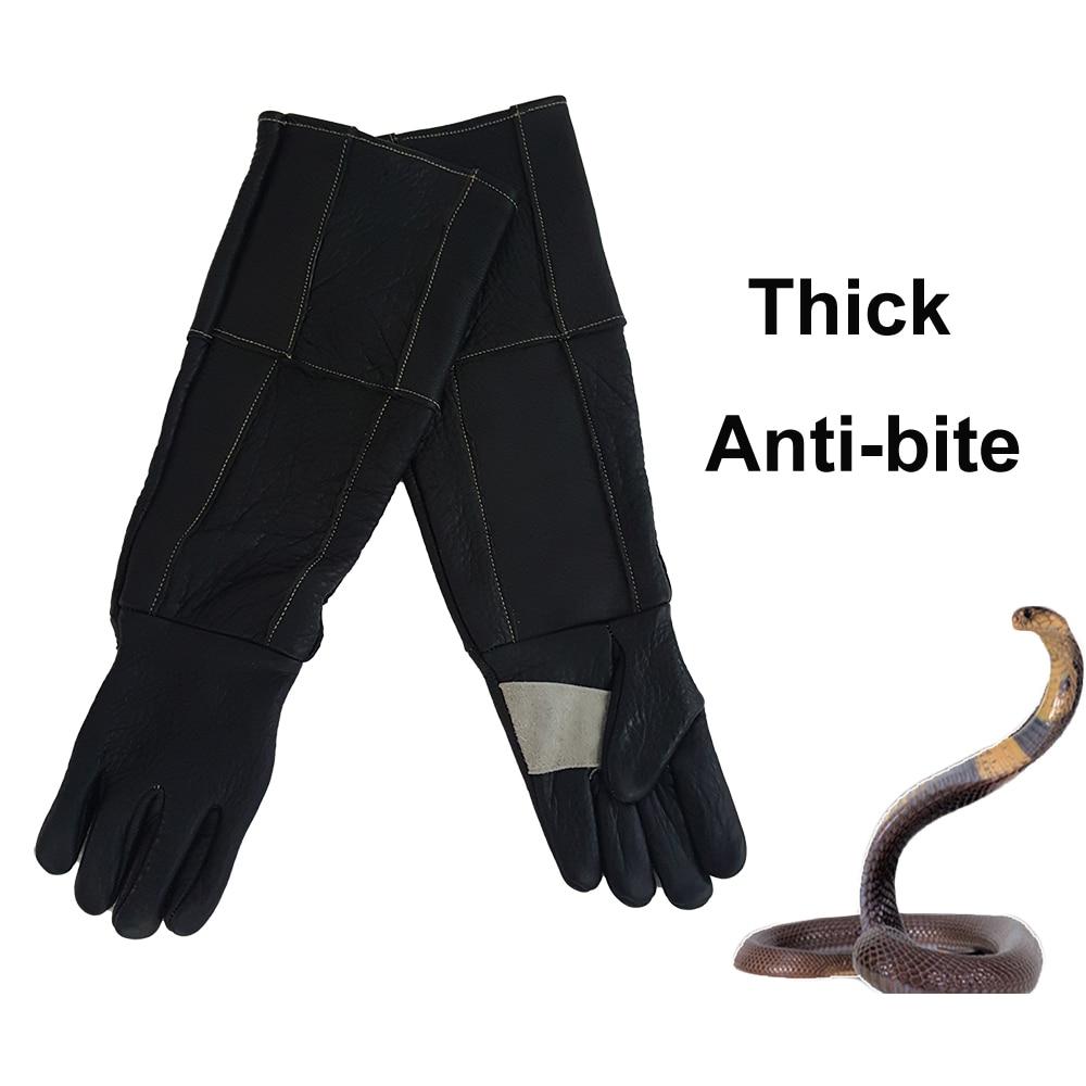 Épaissir les gants en cuir Anti-morsure tactique entraînement Animal alimentation gants de sécurité chien chat serpent Anti morsure anti-rayures longueur 60 cm