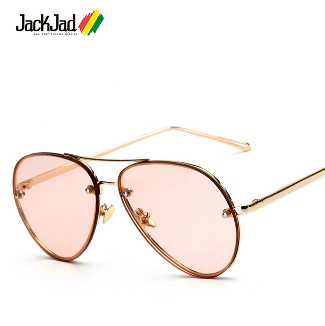 87b7e6aa74d JackJad 2018 Fashion Trend Kendall Jenner Style Aviation Sunglasses Women  Tint Ocean Lens Brand Design Sun