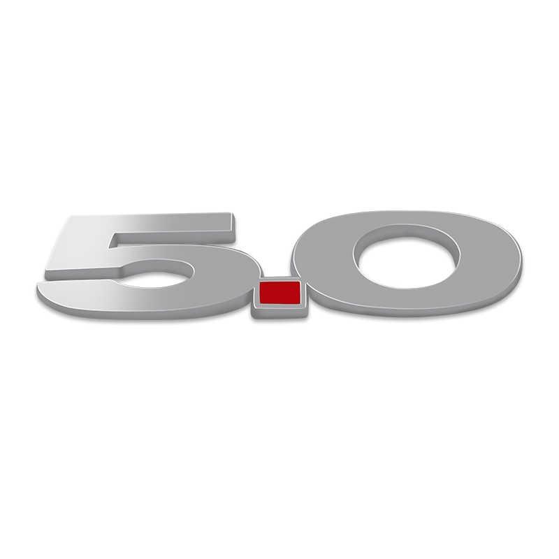1 stks Metalen Nummer 5.0 Embleem ABS Chrome 5.0 Auto Emissie Logo Side Fender Badge Sticker voor Ford Mustang Auto accessoires