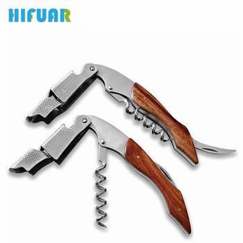 HIFUAR Wine Openers Bottle Beer Opener Wood Handle Portable Screw Corkscrew Wine Multifunction Cook Tools Bar Home Accessories