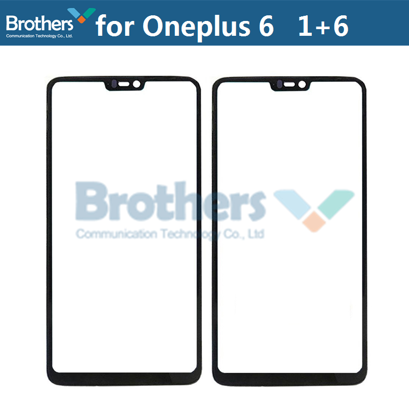 Front Outer Glass Lens For Oneplus 6 Touch Screen Glass Front LCD Glass Lens For Oneplus 6 1+6 Black 6.28\`\` Phone Replacement (1)
