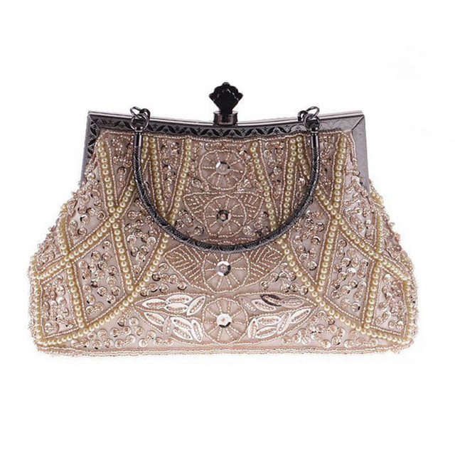 56dec9548c8 Ladies Fancy Shiny Clutch Fashion Women Evening Bag Bridal Wedding Dinner  Party Purse Festa Beading Chain Bag bolsa mujer XA808C-in Clutches from ...