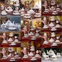 Британский Royal Porcelain Европа высокого Класс костяного фарфора Кофе чашки 3D Цвет эмаль фарфоровая тарелка Кофе Чай наборы для подарок другу