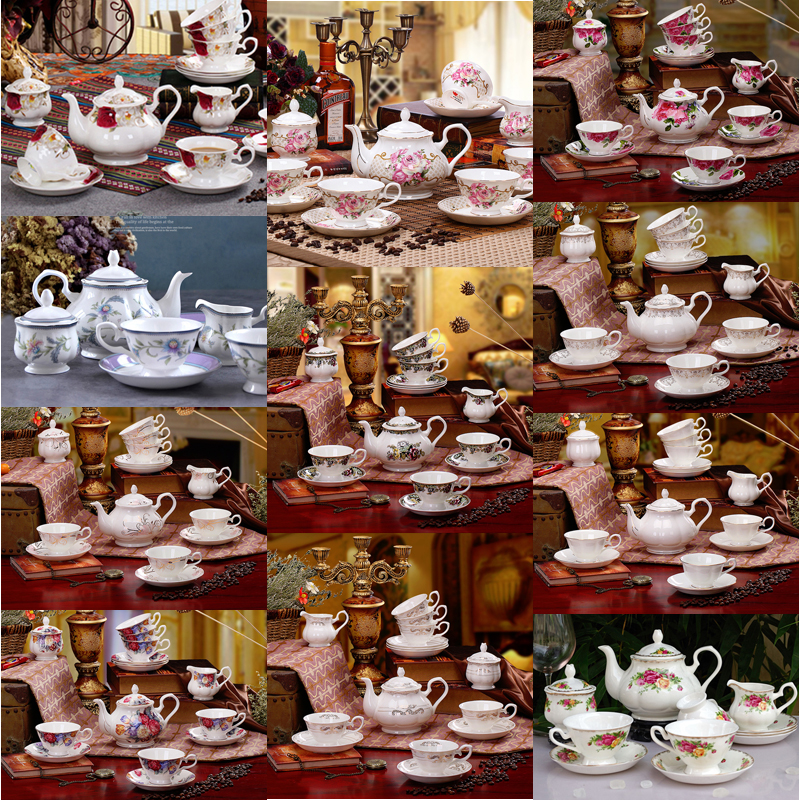 British Royal Porcelain Europe High Grade Bone China Coffee Cup 3D Color Enamel Porcelain Saucer Coffee Tea Sets For Friend Gift