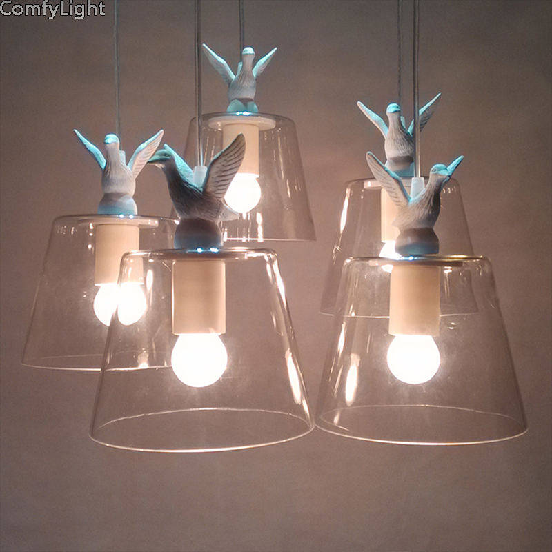 Nordic LED Pendant Glass lamp Lampshade creative Retro Art Suspension Luminaire foyer/Cafe/Restaurant/shop home Decor night LampNordic LED Pendant Glass lamp Lampshade creative Retro Art Suspension Luminaire foyer/Cafe/Restaurant/shop home Decor night Lamp