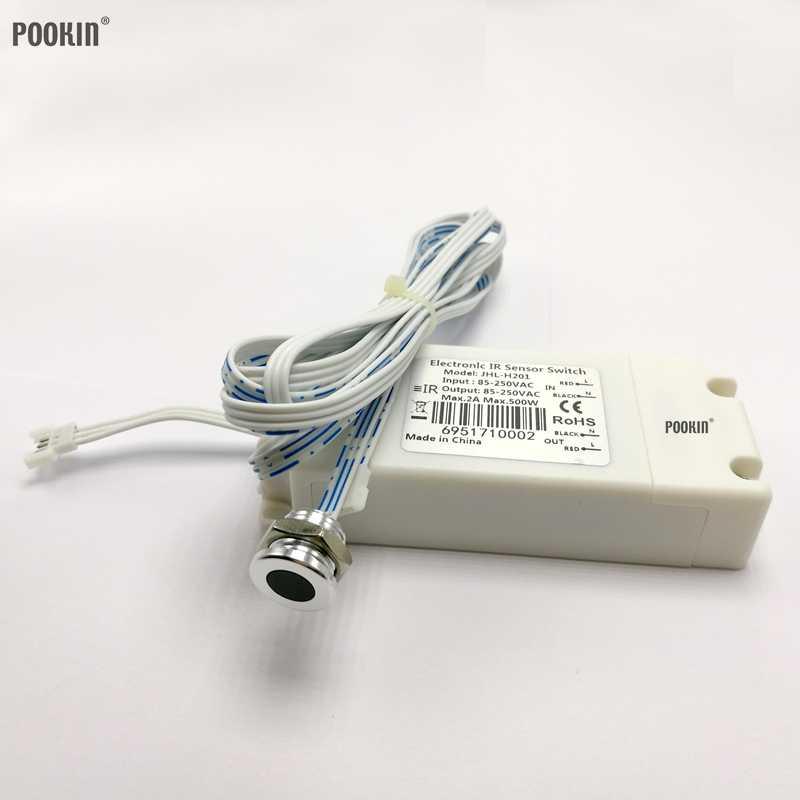 براءة اختراع اثنين من نماذج IR مفتاح مستشعر 500 واط AC85V-250V مستشعر الأشعة تحت الحمراء التبديل محس حركة السيارات التعريفي على/قبالة مصابيح 4-9 سنتيمتر CE