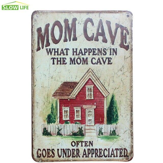 Mon Cave Metal Tin Sign Hotel/Family Wall Decor Metal Sign Vintage Home  Decor Metal