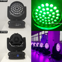 12lot Led professional lighting zoom led wash dmx 36pcs 10w led moving head 36x10w rgbw 4in1 led zoom moving head