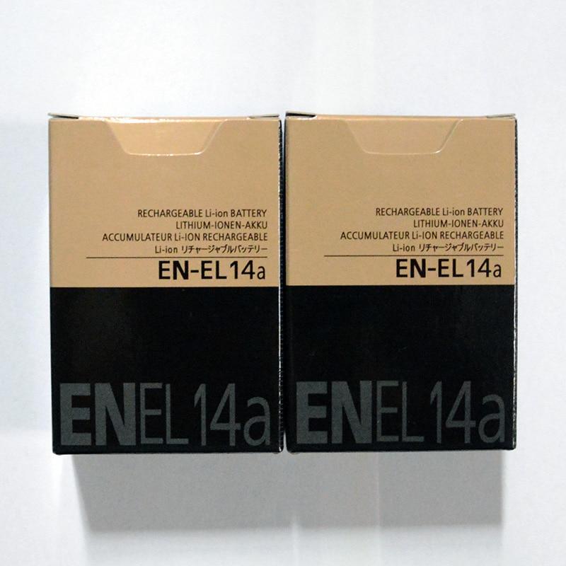 EN EL14A Camera Battery Nikon D3200 D5100 P7100 1230mah For D5500/D5300/D5200/.. 2pcs/Lot
