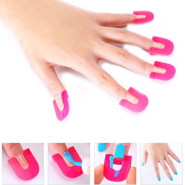 26pcs Pack Nail Gel Polish Protector Creative Spill Resistant Manicure Finger Cover