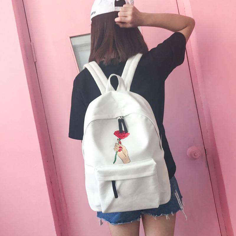 2017 Canvas Backpacks Female Fashion Girl Eastpack School Bag Korean Kpop Ulzzang Schoolbags Backpack For Sale