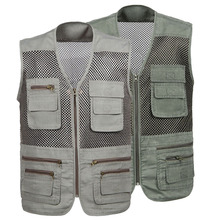 Открытый мужской женский рыболовный жилет Летний охотничий жилет куртки для рыбалки мульти-карманы Professional Photography Vest