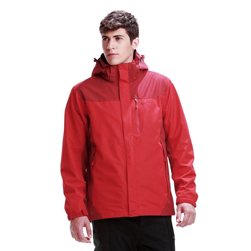 Rax vestes de randonnée hommes imperméable coupe-vent chaud randonnée vestes d'hiver en plein air Camping vestes femmes manteau thermique 43-1A058