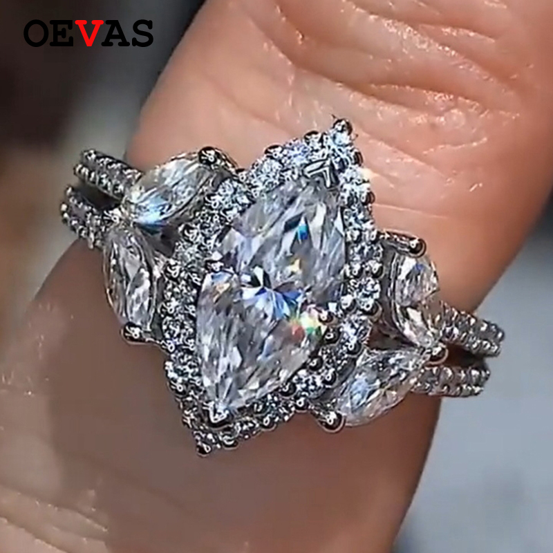 Engagement Rings On Sale Newcastle: 2019 Hot Sale Luxury Horse Eye CZ Ring Wedding Jewelry