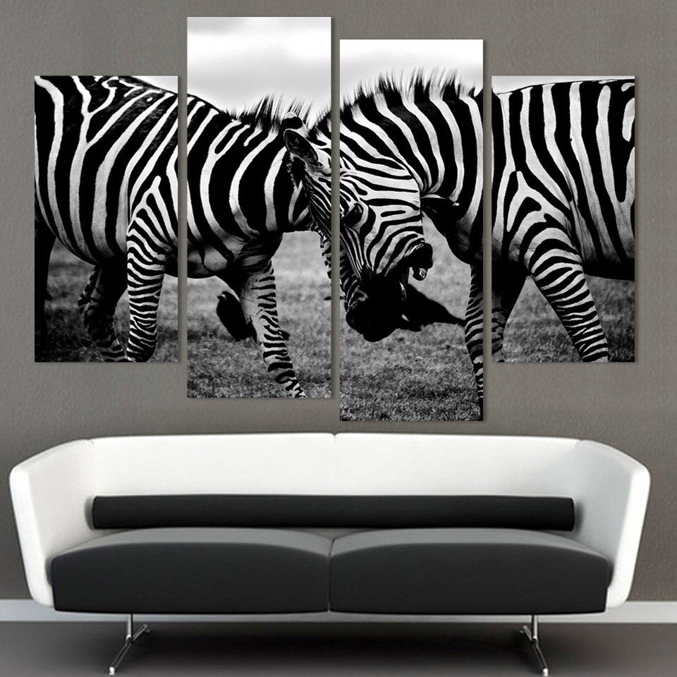 Zebra Living Room Online Get Cheap Zebra Canvas Aliexpresscom Alibaba Group