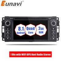 Eunavi 1 Din Android 8,1 dvd плеер автомобиля для Jeep/wrangler/patriot/Компас/Путешествие 2G RAM 16G ROM С WI FI gps Navi Радио стерео