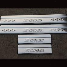 Автомобильный Стайлинг наклейка для Suzuki Sx4 S-cross аксессуары для порога Накладка защита